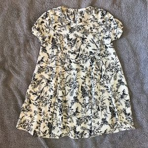 Lush Nordstrom Floral Swing Dress Mini Casual